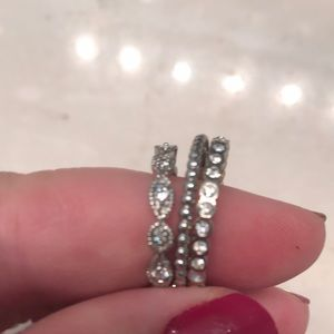 Stella & Dot deco ring set of 3